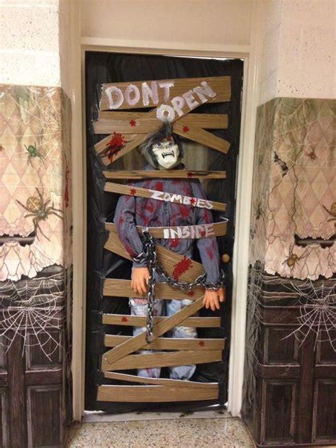 classroom door decorating contest zombies
