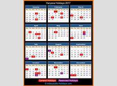 Haryana Holidays 2017