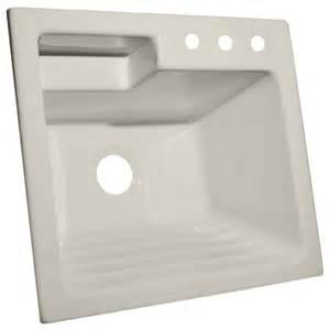 shop corstone bone acrylic self laundry sink at