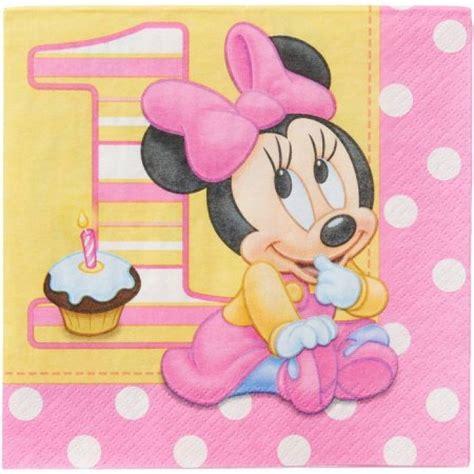 serviette anniversaire minnie mouse 1 an pas cher