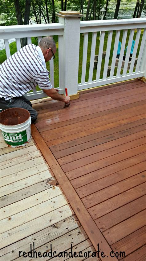 Thompson's Waterseal Deck Makeover  Redhead Can Decorate