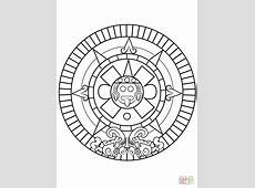 Disegno di Pietra del sole azteca da colorare Disegni da