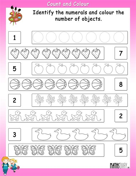 Counting  Grade 1 Math Worksheets  Page 2