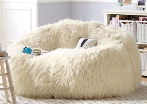 Large Shaggy Faux Fur Beanbag Cover Plush Bean Bag Chair Skull Home Decorations Decor Decals Window Treatments Abc Business Opportunities Different Styles Of Decorating A Living Room Best Discount Websites