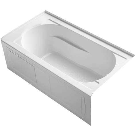 home depot bathtub drain kohler devonshire 5 ft reversible drain drop in acrylic