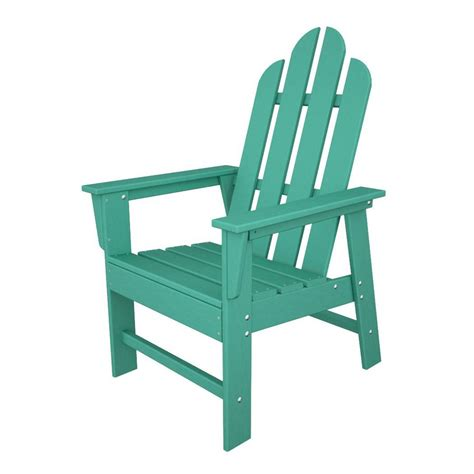 shop polywood island aruba recycled plastic casual adirondack chair at lowes