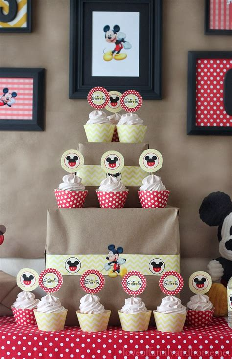 5m Creations Mickey Mouse Party Decorations Chevron And