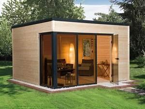 Gartenhaus Modernes Design : weka gartenhaus cubilis grundriss 380 x 300 st rke 45 farbe natur weka holzbau gmbh ~ Markanthonyermac.com Haus und Dekorationen
