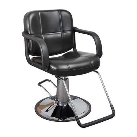 black quilted hair salon styling chair