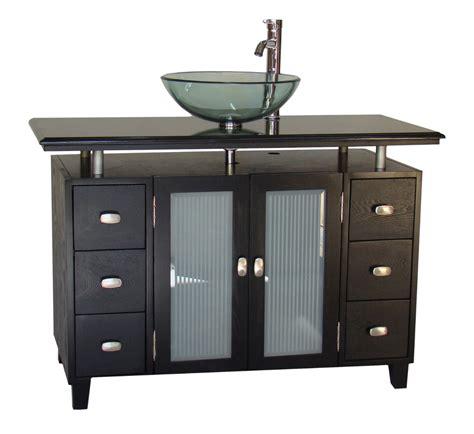 adelina 46 inch vessel sink bathroom vanity black granite top