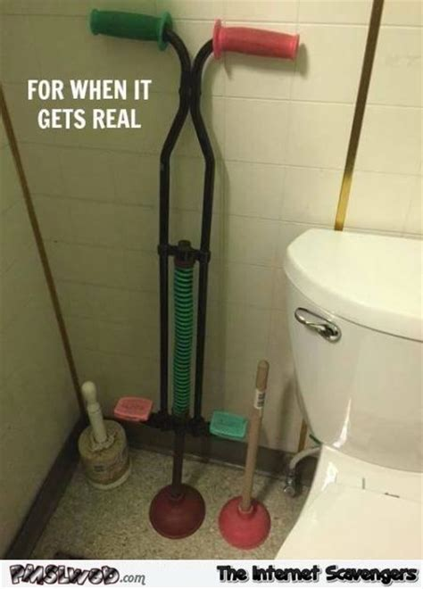 toilet plunger gets real