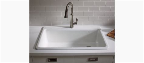 riverby top mount kitchen sink with accessories k 5871 1a2 kohler