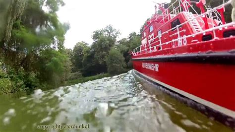 Rc Fire Boat Youtube by Rc Rescue Fire Fight Boat D 220 Sseldorf Three View Maximum