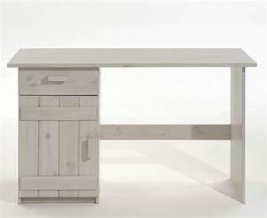 Tisch Weiß Holz : kinder schreibtisch wei lasiert kiefer massiv holz m bel pc tisch ~ Markanthonyermac.com Haus und Dekorationen