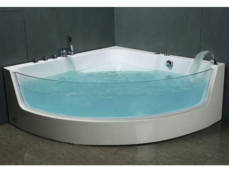 baignoire baln 233 o d angle vitr 233 e palama 2 places 150 150 h57cm 4 hydrojets grande vitre