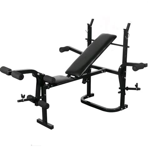 Vidaxlcouk  Folding Weight Bench Dumbbell Barbell Set