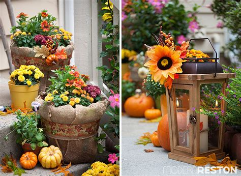 Fall Decorating :  The Wests' Lush And Surprisingly