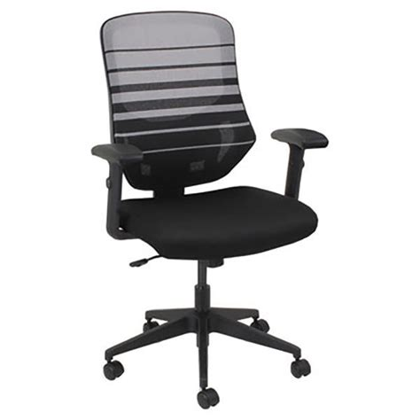 alera aleem4204 embre black white mid back mesh office chair with adjustable arms and black
