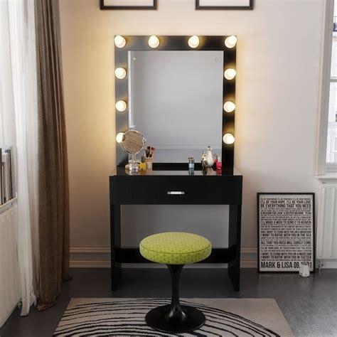 tribesigns vanity set with lighted mirror makeup vanity dressing table dresser desk bedroom