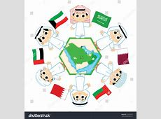 Children Surrounding The Map Of Countries Which Belongs To