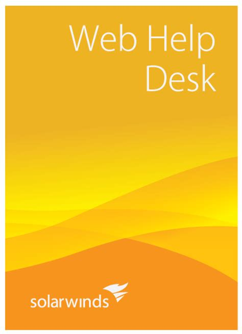 solarwinds web help desk course outline loop1 systems inc