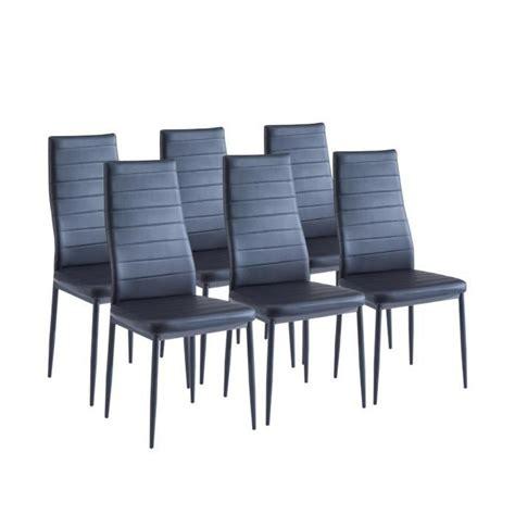 sam lot de 6 chaises de salle 224 manger noires achat vente chaise salle a manger pas cher