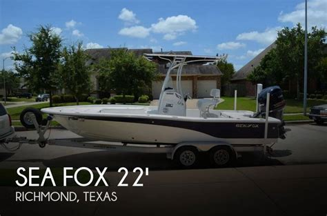 Used Sea Fox Boats For Sale In Texas by For Sale Used 2012 Sea Fox 220 Xt Bay In Richmond Texas