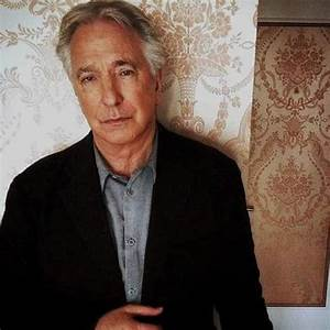 This photo of Alan Rickman is from 2015. The shot was ...