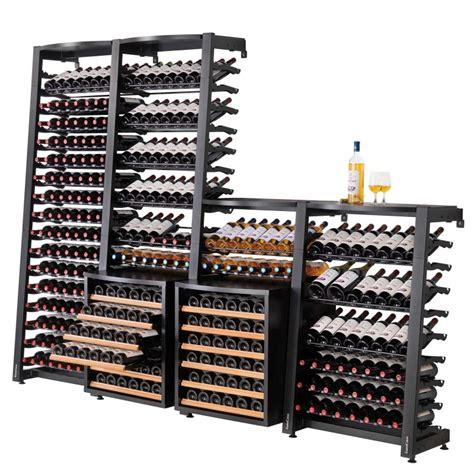 modulosteel rangement contemporain modulable en acier pour le vin eurocave