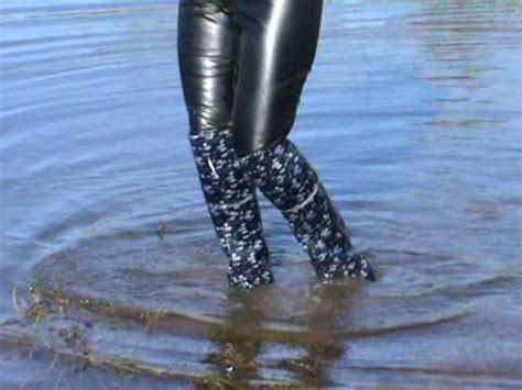 Rubber Boot Water by High Rubber Boots In Deep Water Part2 Youtube