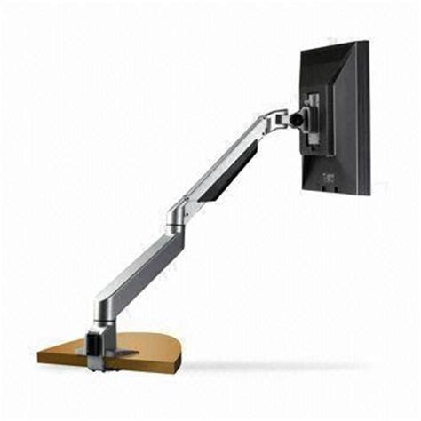 flat panel dual arm desk mount with smooth extension to achieve ideal viewing angle global sources