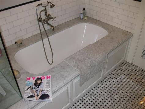 Subway Tile Tub Surround by Undermount Tub With Subway Tile Surround Bath Remodel
