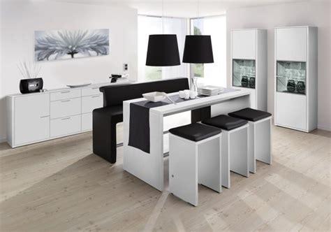 salle 224 manger avec table haute photo 10 10 combinaison du noir et du blanc