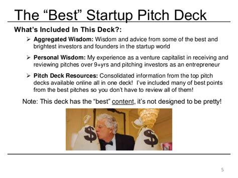 the best startup investor pitch deck how to present to ve