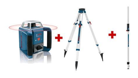 pack ext 233 rieur laser rotatif grl 400 h tr 233 pied bt 170 mire gr 240 bosch 061599403u