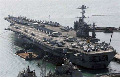 un porte avions am 233 ricain se rendra en cor 233 e du sud pour participer 224 un exercice militaire le