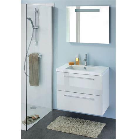 meuble salle bain laque blanc
