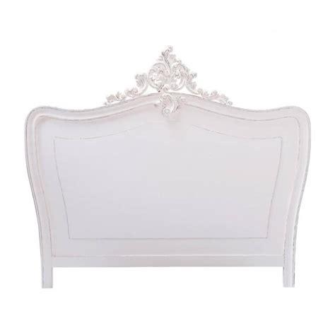t 234 te de lit en bois blanche l 140 cm comtesse maisons du monde