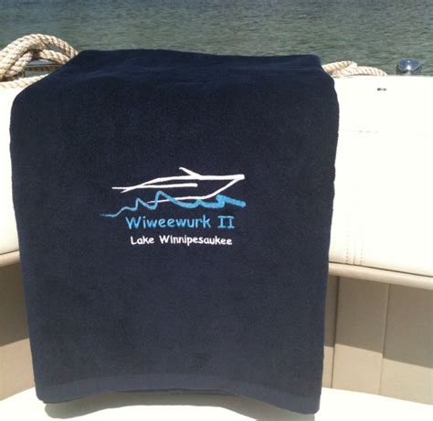Boat Beach Towels by Custom Embroidered Boat Beach Towel Nautical Pinterest