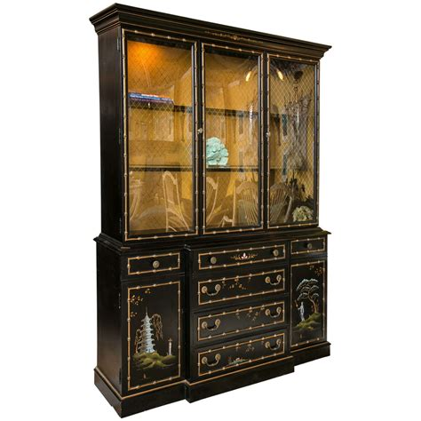 a chinoiserie china cabinet breakfront at 1stdibs