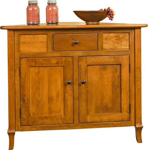 White Storage Cabinets With Doors by Amish Jacob Martin Corner Buffet Cabinet