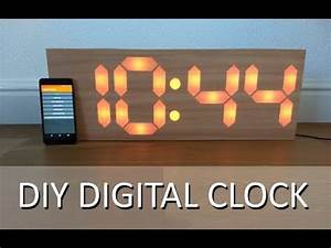 DIY 7 Segment Digital Clock - YouTube
