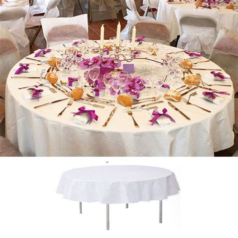 nappe de table ronde blanche 240cm