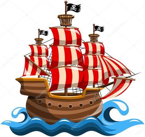 Barco Pirata Ilustracion by Barco Pirata Aislado Vector De Stock 169 Canbedone 86262676