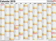 Download Kalender 2019 Pdf With Calendar UK 16 Free