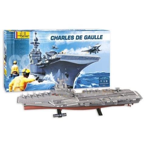 maquette bateau heller porte avions charles de gaulle coffret cadeau