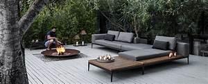 Outdoor Sofa Holz : gloster grid collection modern luxury outdoor furniture gloster ~ Markanthonyermac.com Haus und Dekorationen