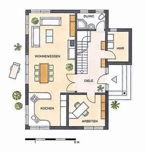 Grundriss Doppelhaushälfte Seitlicher Eingang : einfamilienhaus grundrisse von 120 150 qm ~ Markanthonyermac.com Haus und Dekorationen