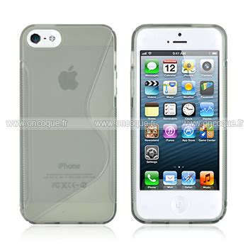 coque apple iphone 5s s line silicone gel housse gris