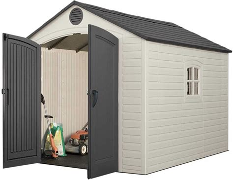 lifetime sentinel 8x10 plastic storage shed w floor 6405